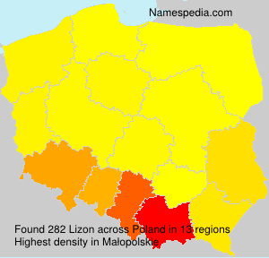 Surname Lizon in Poland
