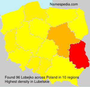 Surname Lobejko in Poland