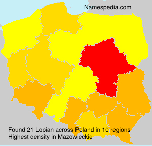 Surname Lopian in Poland