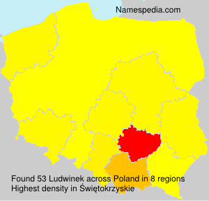 Surname Ludwinek in Poland
