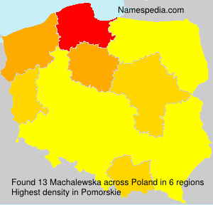 Surname Machalewska in Poland