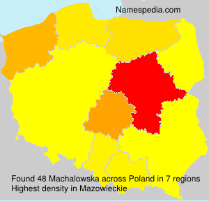 Surname Machalowska in Poland