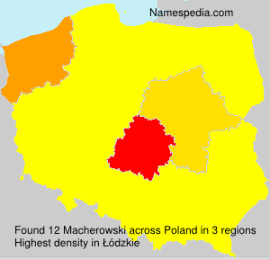 Surname Macherowski in Poland