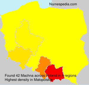Surname Machna in Poland