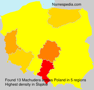 Surname Machudera in Poland