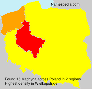 Surname Machyna in Poland