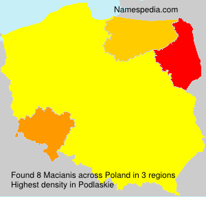 Surname Macianis in Poland