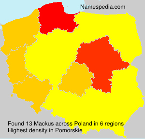 Surname Mackus in Poland