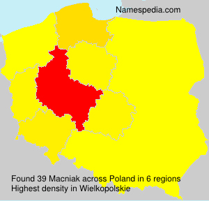 Surname Macniak in Poland