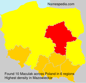 Surname Maculak in Poland