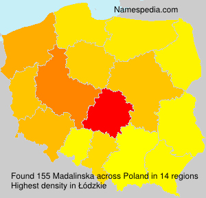 Surname Madalinska in Poland