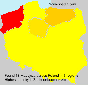 Surname Madejsza in Poland