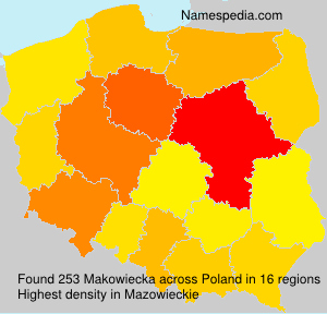 Surname Makowiecka in Poland