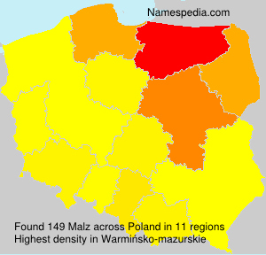 Surname Malz in Poland