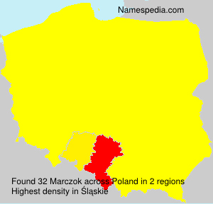 Surname Marczok in Poland