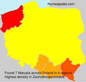 Surname Marusia in Poland