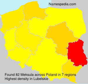 Surname Meksula in Poland