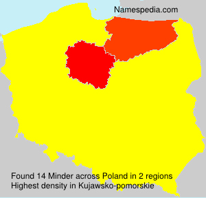 Surname Minder in Poland