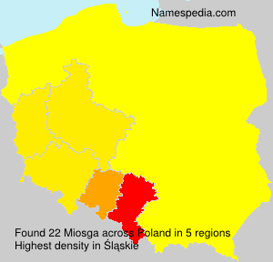Surname Miosga in Poland