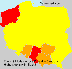 Surname Modes in Poland