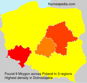 Surname Mrygon in Poland