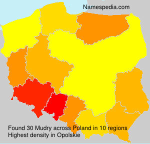 Surname Mudry in Poland