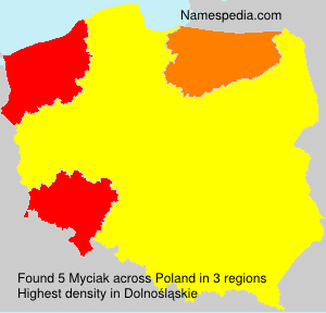 Surname Myciak in Poland