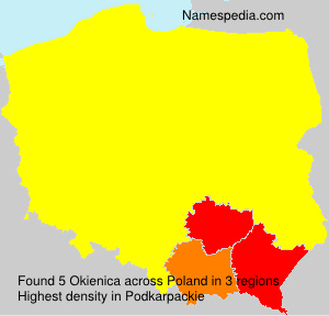 Surname Okienica in Poland