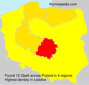 Surname Opelt in Poland