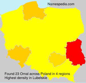 Surname Ornal in Poland