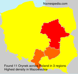 Surname Orynek in Poland