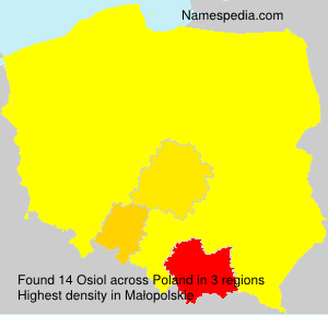 Surname Osiol in Poland