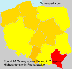 Surname Osiowy in Poland