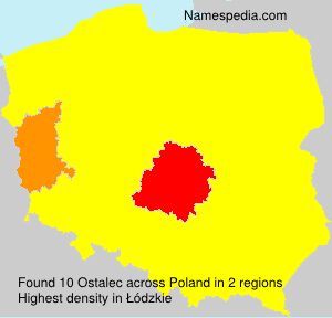 Surname Ostalec in Poland
