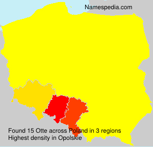 Surname Otte in Poland