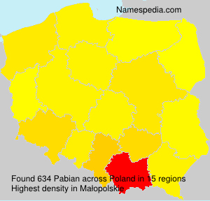Surname Pabian in Poland