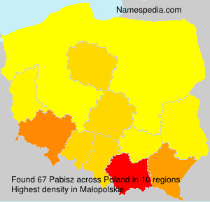 Surname Pabisz in Poland