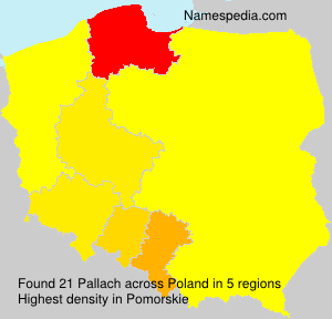 Surname Pallach in Poland