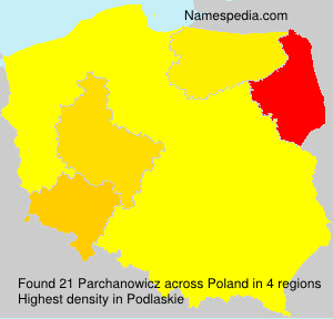Surname Parchanowicz in Poland