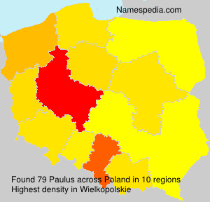 Surname Paulus in Poland