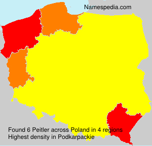 Surname Peitler in Poland