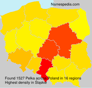 Surname Pelka in Poland