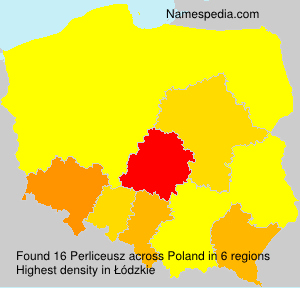 Surname Perliceusz in Poland