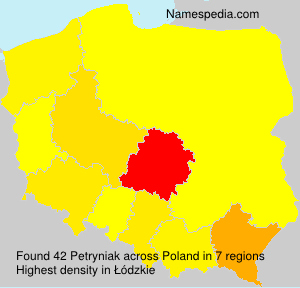 Surname Petryniak in Poland