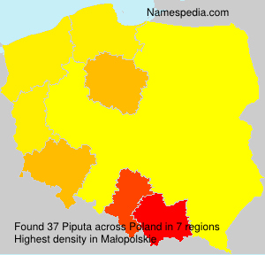 Surname Piputa in Poland