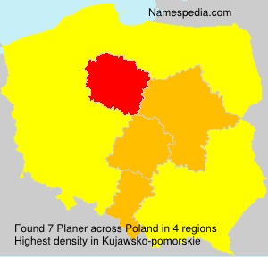 Surname Planer in Poland