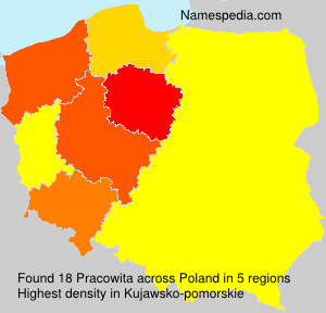 Surname Pracowita in Poland