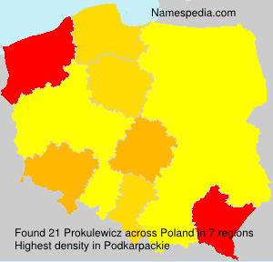 Surname Prokulewicz in Poland