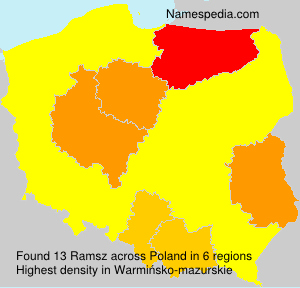 Surname Ramsz in Poland