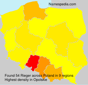 Surname Rieger in Poland